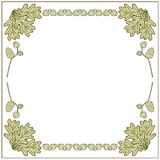 Illustration frames made of acorns. Illustration frame made of acorns and oak leaves Stock Images