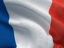 Franch flag on a fabric basis. Illustration of a Franch flag on a fabric basis Stock Photos