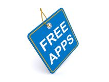 Illustration of FREE APPS tag Stock Image