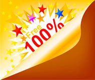Illustration free coupon background Stock Images