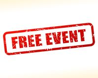 Free event text buffered Royalty Free Stock Images