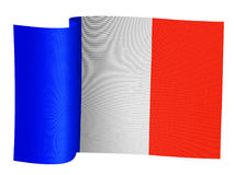 Illustration of French flag. Illustration of the French flag on a white background stock illustration