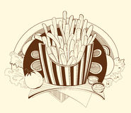 Illustration french fries Royalty Free Stock Images