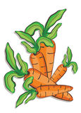 Illustration of fresh carrots Stock Image