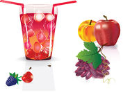 Illustration of fresh fruite juice Royalty Free Stock Photos