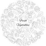 Illustration with fresh vegetables Royalty Free Stock Photos