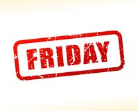 Friday red text stamp. Illustration of friday red text stamp Stock Image