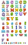 Fridge magnet letters. Illustration of fridge magnet letters simple and capital isolated on white Royalty Free Stock Photos