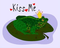 Illustration of a frog kiss me Stock Photo