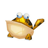 Illustration: The Frog Monster  on White Background. Royalty Free Stock Photos