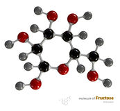 Illustration of Fructose Molecule isolated white background Stock Photo