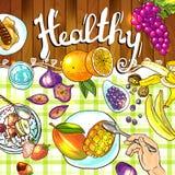 Illustration fruits Stock Photography