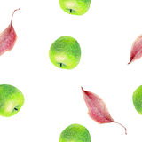 Illustration with fruits Stock Photography