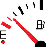 Illustration of a Fuel Gauge on White Background Royalty Free Stock Photography
