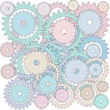 Illustration of Full Frame Background of Many Gears Royalty Free Stock Photography
