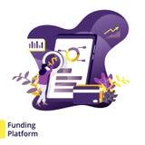 Illustration Funding Platform vector illustration