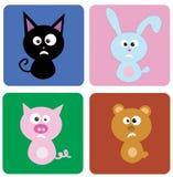 illustration of funny animals Royalty Free Stock Photos