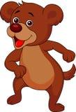 Funny bear cartoon dancing Stock Photos