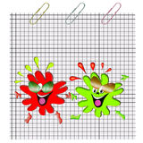 Funny blots on paper Royalty Free Stock Photography