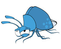 Illustration of a Funny Bug. Cartoon Character Royalty Free Stock Image