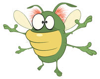 Illustration of a Funny Bug. Cartoon Character Royalty Free Stock Images