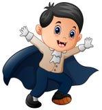 Funny cartoon little vampire Stock Photo