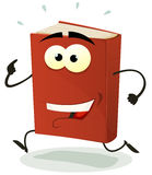 Happy Red Book Character Running Stock Photos