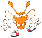 Illustration of a Funny clothes moth . Cartoon Character Stock Photography