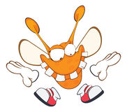 Illustration of a Funny clothes moth . Cartoon Character Stock Images