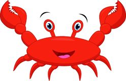 Funny crab cartoon royalty free illustration