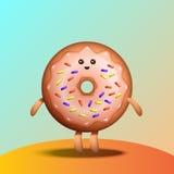 Illustration of funny doughnut Stock Photo