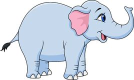Funny elephant. Illustration of funny elephant cartoon Stock Images
