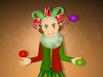 Illustration of funny joker Stock Images