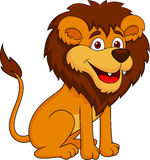 Funny lion cartoon sitting Stock Photo