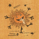 Illustration with funny monster Royalty Free Stock Photos