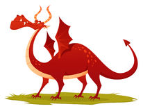 Illustration of a funny red dragon Royalty Free Stock Image
