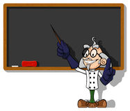 Scientist at chalkboard Stock Image