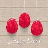 Illustration of funny striped Eastern eggs. Vector illustration of funny striped Eastern eggs. Element for design Stock Photo