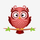 Owl brown royalty free illustration