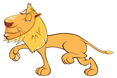 Illustration of a Funny Yellow Lion. Cartoon Character Royalty Free Stock Photos