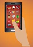 Illustration futée de vecteur d'icône d'applications logiciel de téléphone Photographie stock