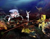 Illustration futuriste étrange de planète illustration de vecteur