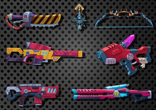 Illustration: Futuristic Weapon Arsenal. Royalty Free Stock Images