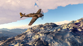 Illustration FW190 airplane. 3D Illustration of a FW190 Focke Wulf WWII fighter airplane Stock Image