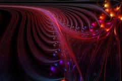 Illustration générée par ordinateur de fractale de spirale sophistiquée Image libre de droits
