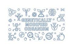Illustration génétiquement modifiée d'ensemble de vecteur d'organisme illustration de vecteur