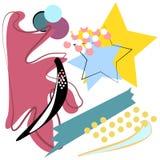 Illustration géométrique créative de vecteur de fond Photos libres de droits