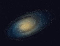 Illustration of galaxy,stars in the space. Stock Photography