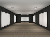 A illustration of a gallery with frames Royalty Free Stock Images