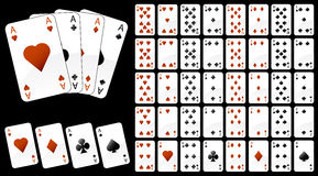 Illustration of game cards Royalty Free Stock Images